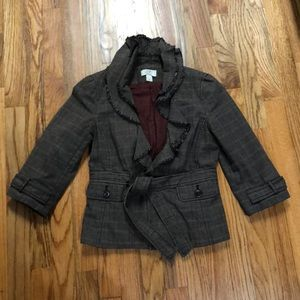 ADORABLE jacket with ruffle collar